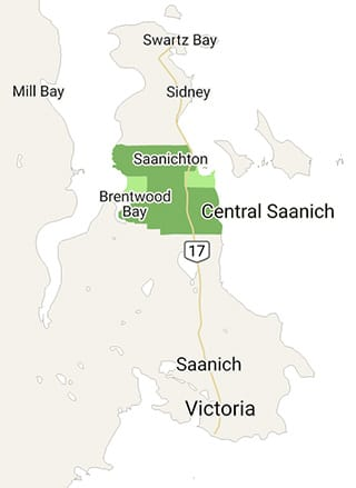 Map of Central Saanich